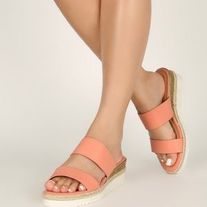 Coral Platform Wedge NEW IN BOX
